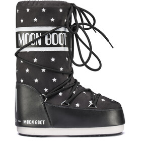 Moon Boot Star Girls Black-White